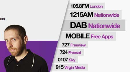 Absolute Radio platforms