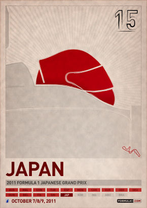 PJ Tierney's poster for the 2011 Japanese Grand Prix