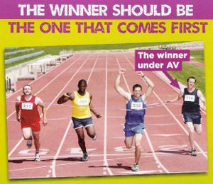 No to AV finish line